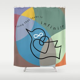 a thing that loves Shower Curtain