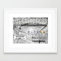 real madrid Framed Art Prints featuring REAL MADRID by sokteulu