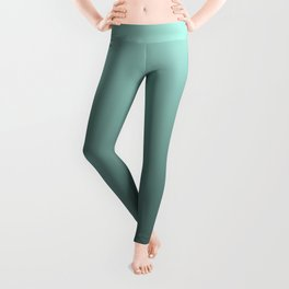 Grey, turquoise Ombre. Leggings