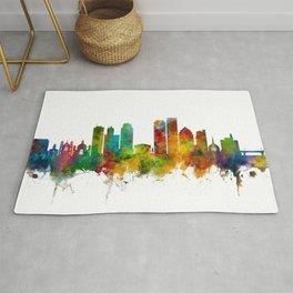 Dayton Ohio Skyline Rug