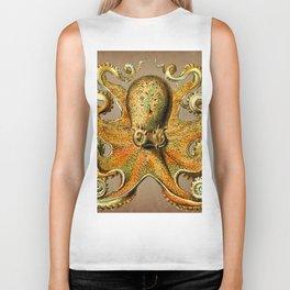 Vintage Golden Octopus Biker Tank