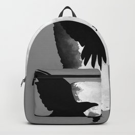 A Murder Of Crows Flying Across The Moon Backpack