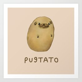Pugtato Art Print