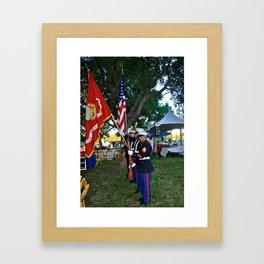 Salute the colors Framed Art Print