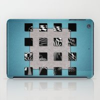 sports iPad Cases featuring SQUARE AMBIENCE - Blue Sports by VIAINA