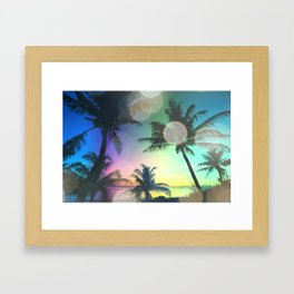 Summer Dreams : Pastel Palm Trees Framed Art Print