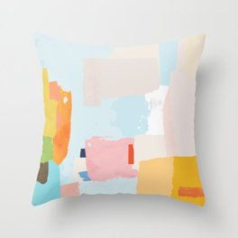 solving world hunger with pretty shapes Throw Pillow