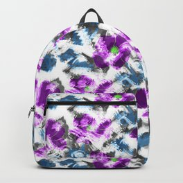 """""""Watercolor glamour """". Lilac - blue. Backpack"""