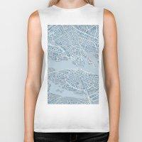 stockholm Biker Tanks featuring Stockholm  by Anna Eggertz