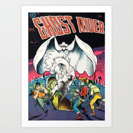 The Ghost Rider Vintage Golden Age Comic Art Art Print