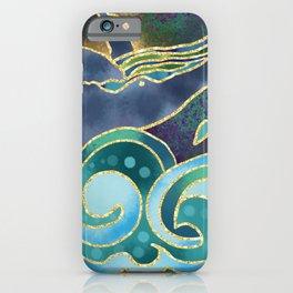 Silk Screen Humpback Whale iPhone Case