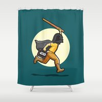 darth Shower Curtains featuring Darth Harry by Rabassa