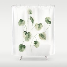 Drop Leafs Shower Curtain