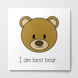 Best Bear Metal Print