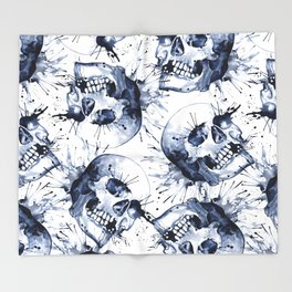Skull Pattern Throw Blanket