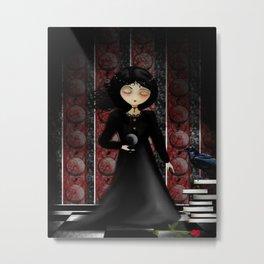 Melancholy Goth Girl This Time Metal Print