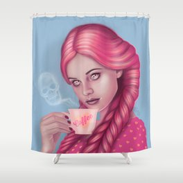 My Blood Type is Coffee Shower Curtain