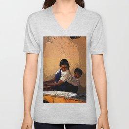 Mother and  Child Unisex V-Neck