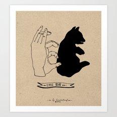 Hand-shadows Art Print