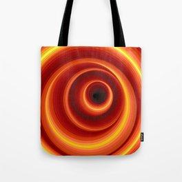 Hypnotic Virtual Orange Vertigo Hole Tote Bag