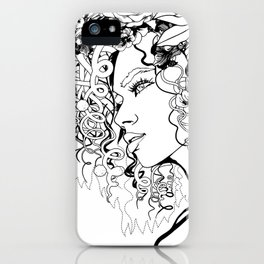 With Flowers in Her Hair No. 5 iPhone Case