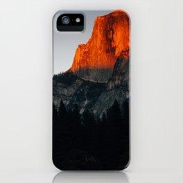 Last Light at Half Dome  iPhone Case