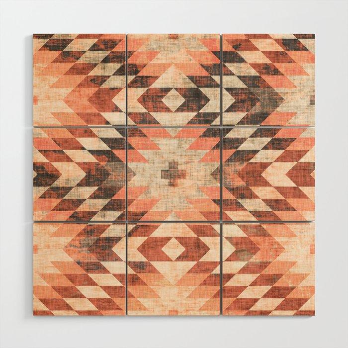 native coral diamond Wood Wall Art