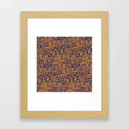 Copper Loops and Swirls Abstract Framed Art Print