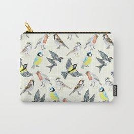Illustrated Birds Carry-All Pouch
