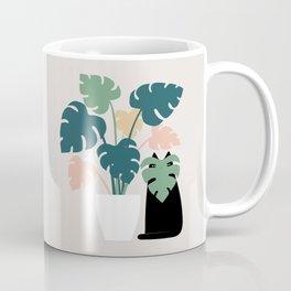 Cat and Plant 21: Leaf Me Alone Coffee Mug