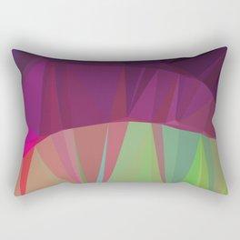 Low poly aurora Rectangular Pillow
