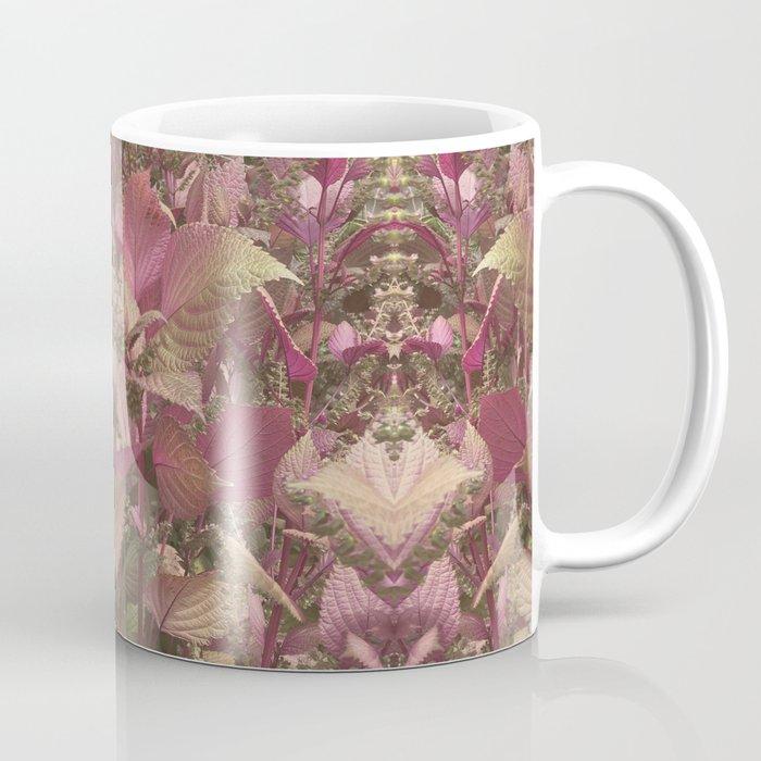 Red Shiso Warm Tones Pattern Coffee Mug