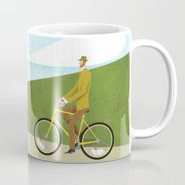 Road Cycling With Rodent Power Poster Coffee Mug