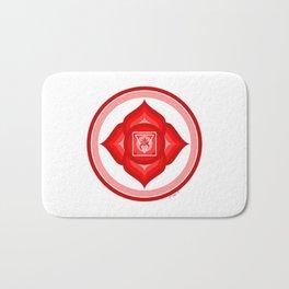 I AM - Red Lotus Root Chakra Yoga Meditation Mantra Bath Mat