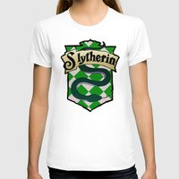 slytherin T-shirts featuring Slytherin Crest by AriesNamarie