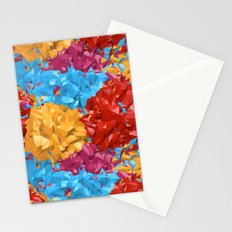 Colorful abstract.3D Rendering Stationery Cards