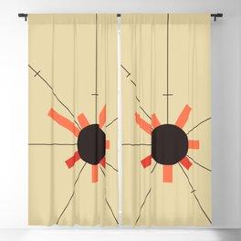 paper sun || straw Blackout Curtain
