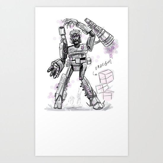Megatron Contest Weirdo Art Print