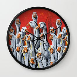 A Giggle Gaggle of Geese Wall Clock