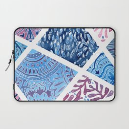 Sectional Patterns - Blue and Purple Laptop Sleeve