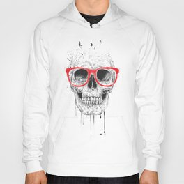 Skull with red glasses Hoody