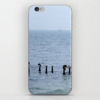 cape cod iPhone & iPod Skins featuring Gull's Perch, Cape Cod by JezRebelle
