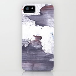 Dark slate gray abstract watercolor iPhone Case