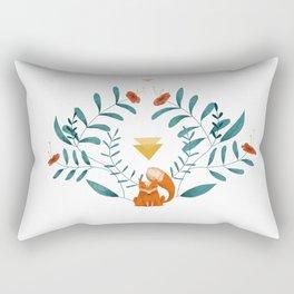 Renard fleuri Rectangular Pillow