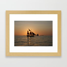 Sails and Sunsets Framed Art Print