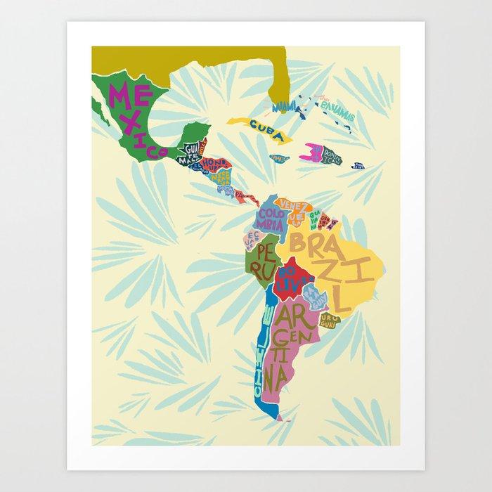 Map. Mapa. Carte. Art Print