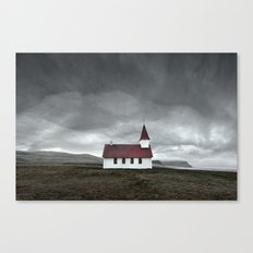 Church of Breidavik Canvas Print