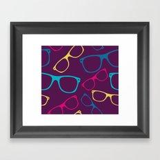 glasses Seamless pattern retro sunglasses Framed Art Print
