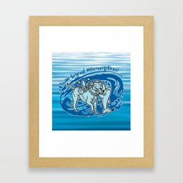 Lexy & Bruce - Swim beyond misconceptions! Framed Art Print