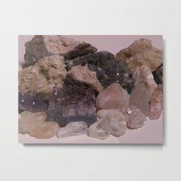 Quartz Cluster Metal Print